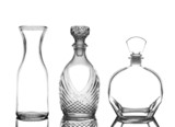 Decanters on White with Reflection