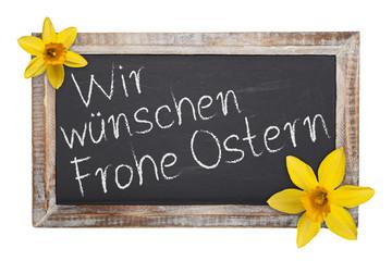 Schultafel - Wir wünschen Frohe Ostern (II)