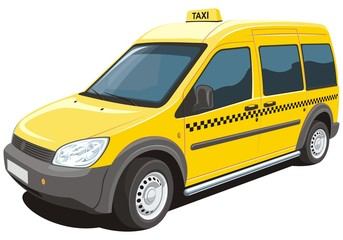 Vector isolated yellow taxi