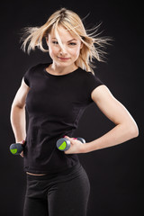 Slim sporty woman