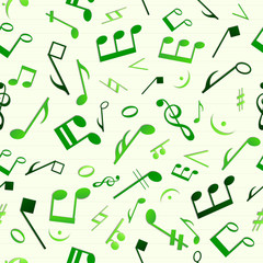 Colorful music seamless pattern.