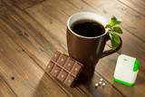 Stevia chocolate and coffee