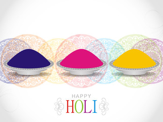 Elegant background design for Holi festival.