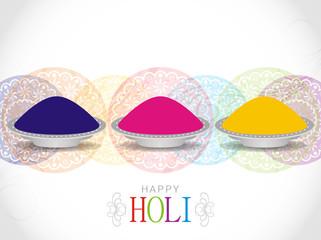 Elegant background design for Holi festival.