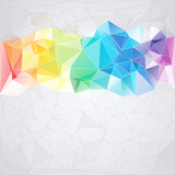 Naklejka triangular style abstract background of triangles