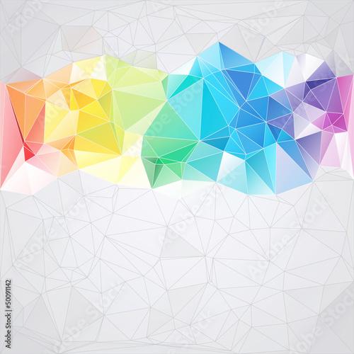Plakat trójkątny styl streszczenie tle trójkątów
