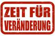 Grunge Stempel rot ZEIT FÜR VERÄNDERUNG