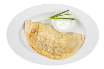 empanada, meat pie on white