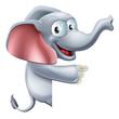 Cute Pointing Elephant
