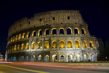 Colosseum in Rome by night, Italy
