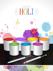 Beautiful background design for Holi festival.
