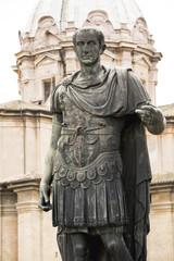 Statue of emperator Julius Caesar in Rome, Italy
