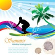 Summer holiday vector design
