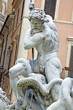 Detail of Poseidon Statue and fountain , Piazza Navona, Rome, It