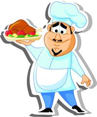 Мультипликационный персонаж шеф-повара