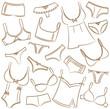 Female Underwear Icons Set - 50093769