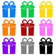 Colorful gift box symbols