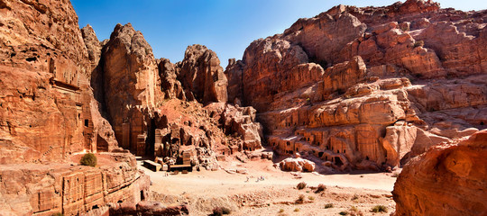 Panoramic city of Petra Jordan