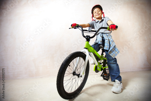 Little mountainbiker