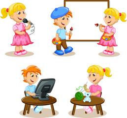 Дети занимаются хобби