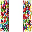Vector Abstract Colour Alphabet