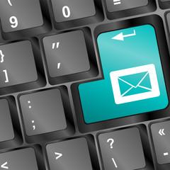 Mail keyboard button on keyboard