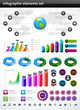 Infographics collection vector design elements