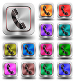 Aluminum Phone glossy icons, crazy colors #03