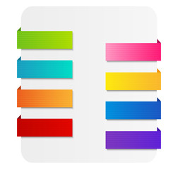 Set of color ribbons