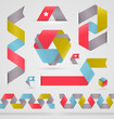 Abstract ribbon color shape for infographics