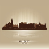 Galway Ireland skyline city silhouette