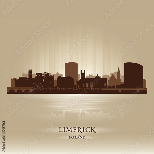Limerick Ireland skyline city silhouette