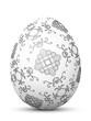 Osterei, Ostern, Ei, Symbol, Floral, Muster, Retro, Schwarzweiß