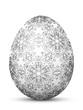 Osterei, Ostern, Ei, Symbol, Muster, Retro, Floral, Schwarzweiß