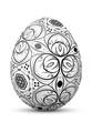 Osterei, Ostern, Ei, Symbol, Muster, Retro, Foliage, Schwarzweiß