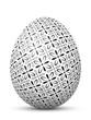 Osterei, Ostern, Ei, Symbol, Muster, Retro, Blumen, Schwarzweiß