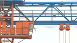 Gantry crane working on the construction site