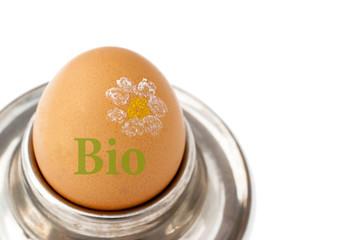 Bioei im Eierbecher