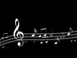 MODERN MUSIC NOTES IN BLACK