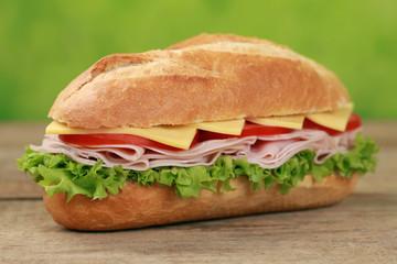Sub Sandwich mit Schinken