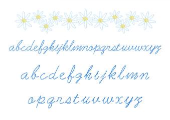 刺繍のアルファベット小文字