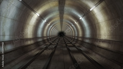 Train metro tunnel loop
