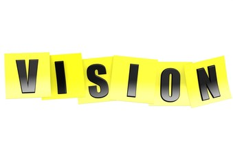 Vision on yellow note