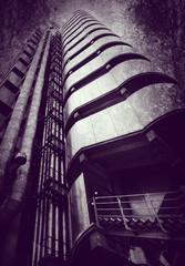 modern architecture on textured background