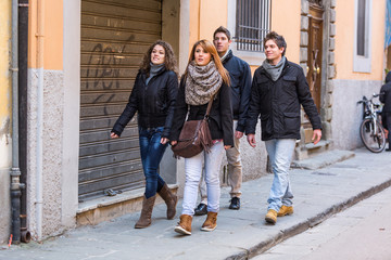 Group of Friends Walking in the City
