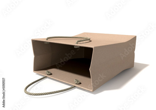 Shopping Bag Paper Laying Down