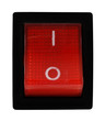 Red electric miniature rocker switch on