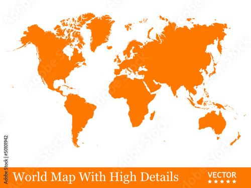 Landkarte, Weltkarte, Karte, Globus, Erde, Orange, Geografie, 2D