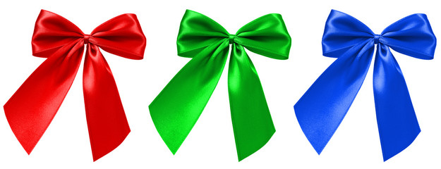 Rote, Grüne und Blaue Bandschleife