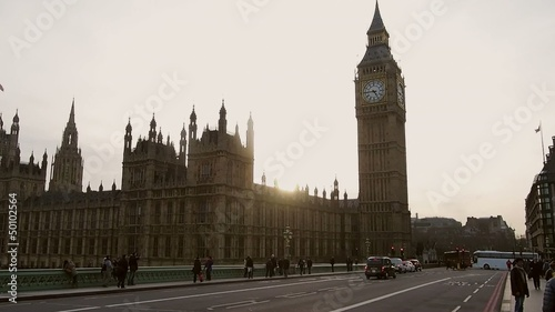 London, Big Ben am Abend